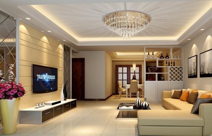 Lựa chọn cho ngôi nhà với trần thạch cao kết hợp gỗ