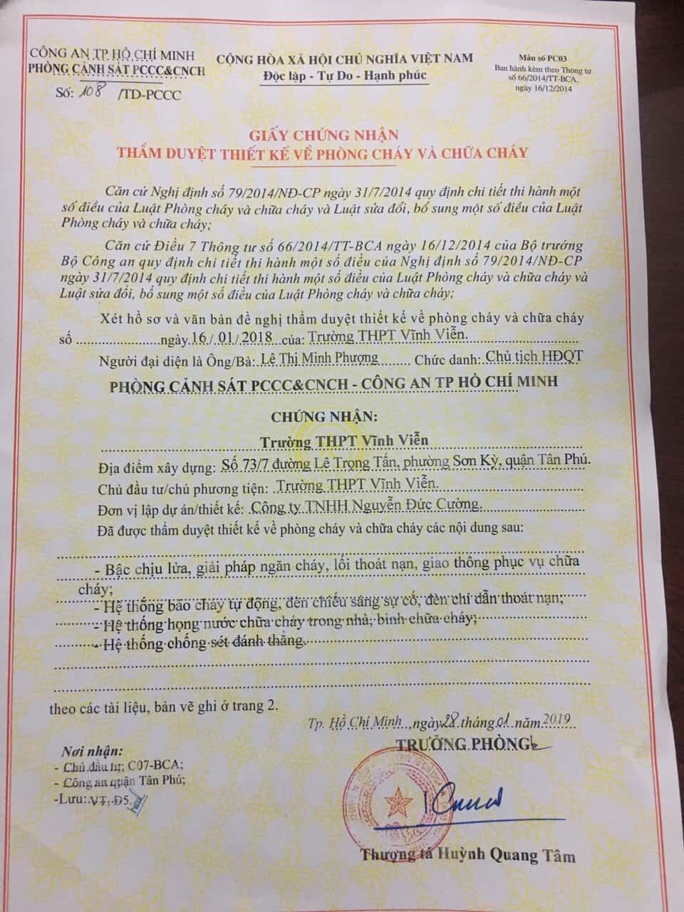 Công Ty Thiết Kế Thi Công Hệ Thống PCCC Đạt Chuẩn Tại TP.HCM