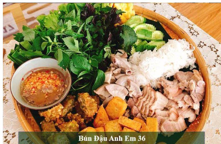 Top các quán bún đậu mắm tôm hấp dẫn đầy ụ tại Thanh Hóa