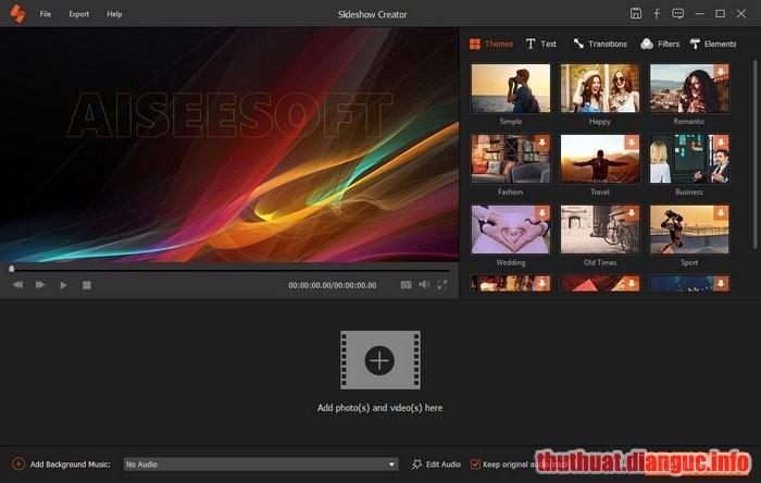 Download Aiseesoft Slideshow Creator 1.0.22 Full Crack