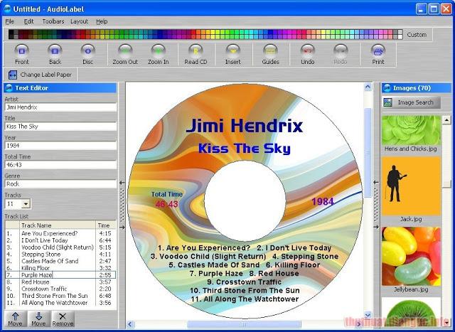 Download AudioLabel CD/DVD Cover Maker 6.0.0.6 Full Crack