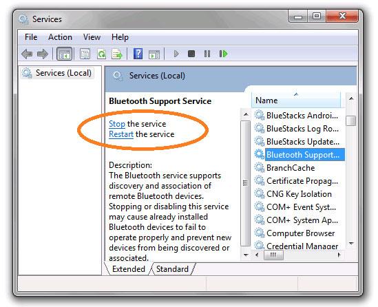 Sửa lỗi Bluetooth không làm việc trên Windows 7 hoặc Windows 8
