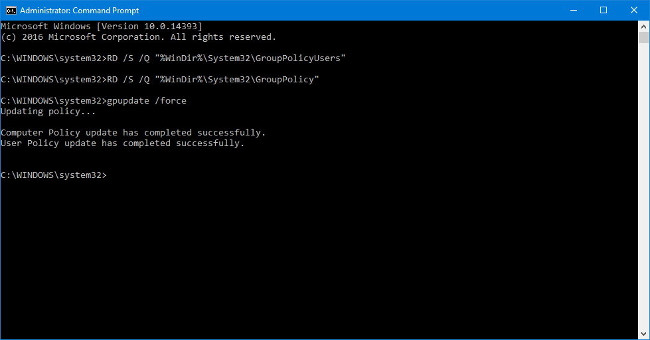Sử dụng Command Prompt