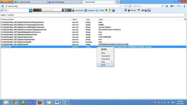 Cách gỡ bỏ Certified Toolbar, Ilivid Searchnu… khỏi trình duyệt