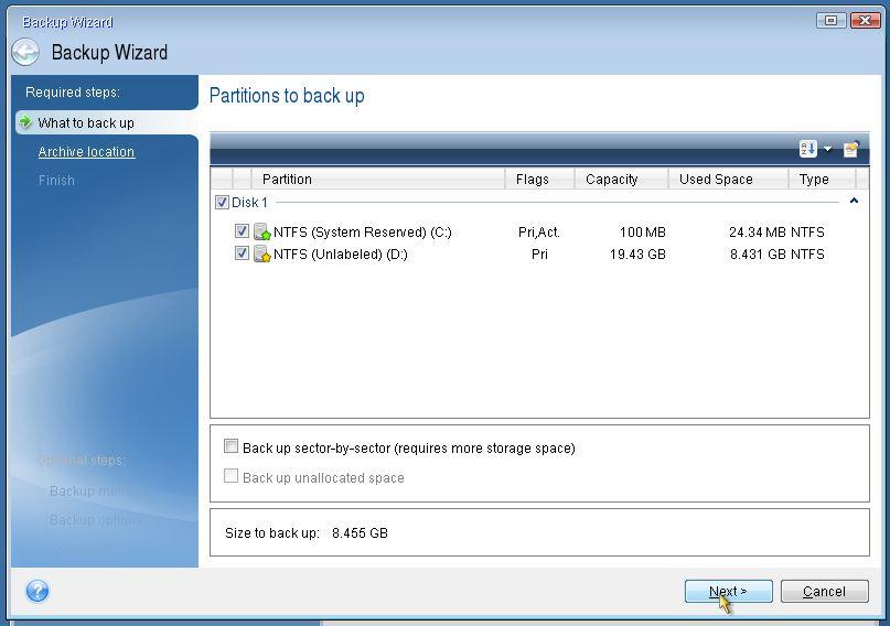 Thủ thuật sao lưu và khôi phục Windows chỉ trong vòng 10 phút với Acronis True Image