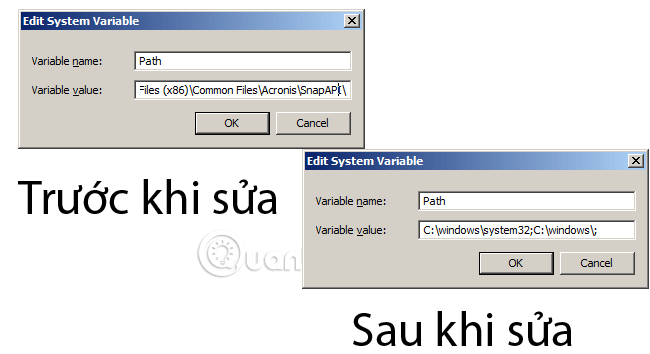 "Hướng dẫn sửa lỗi ""not recognized as an internal or external command"" khi dùng CMD trong Windows"