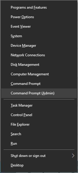 Mở Command Prompt dưới quyền Admin
