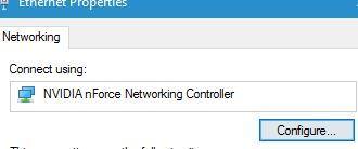 Click chọn nút Configure