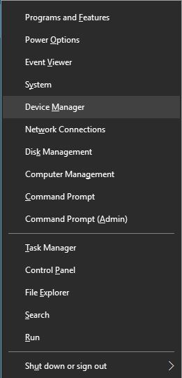 click chọn Device Manager