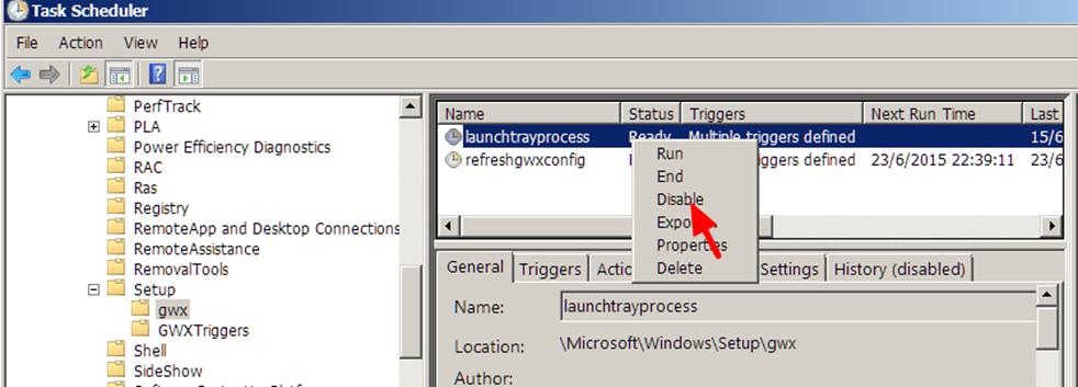 Vô hiệu hóa, gỡ bỏ biểu tượng thông báo Get Windows 10