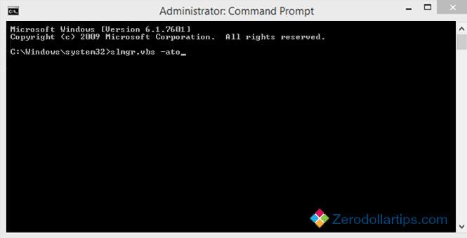 Nhập lệnh vào Command Prompt