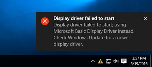 2 cách sửa lỗi Display Driver Failed To Start trên Windows 10
