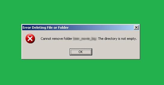 "Hướng dẫn sửa lỗi ""Cannot delete folder: The directory is not empty"""
