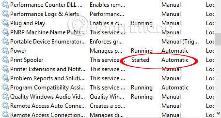 Sửa lỗi The print spooler service is not running trên Windows 10, 8.1, 7
