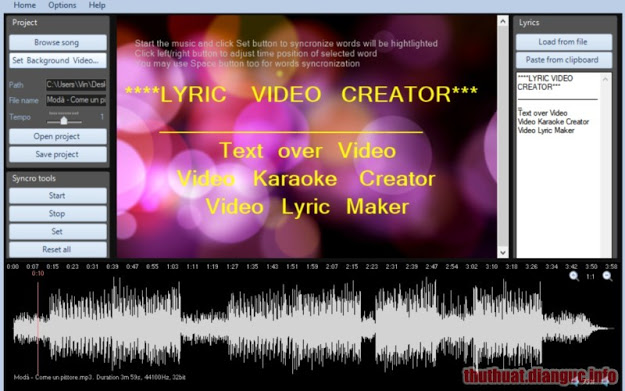 Download Lyric Video Creator Professional 4.0 Full Crack