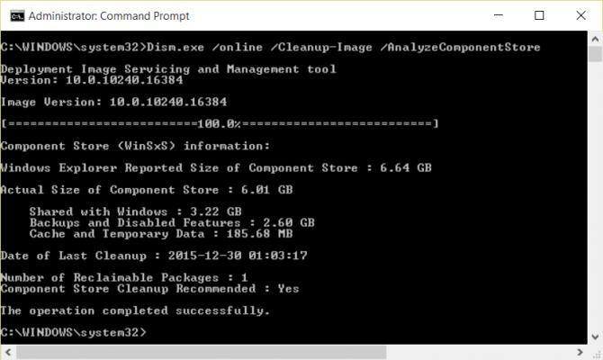 Xóa sạch thư mục winSxS để giải phóng không gian windows