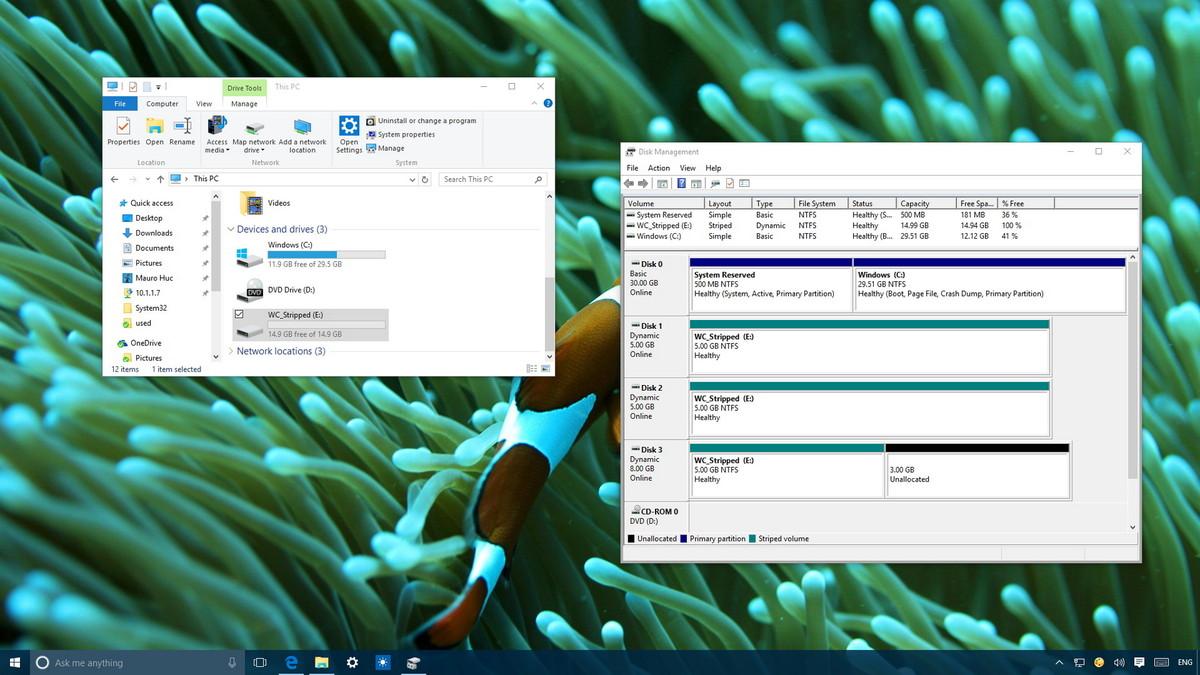 Làm thế nào để kết hợp nhiều ổ đĩa cứng thành một Volume trên Windows 10