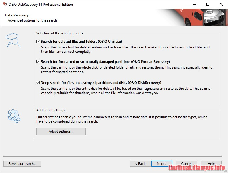 Download O&O DiskRecovery Professional Edition 14.1.141 Full Crack