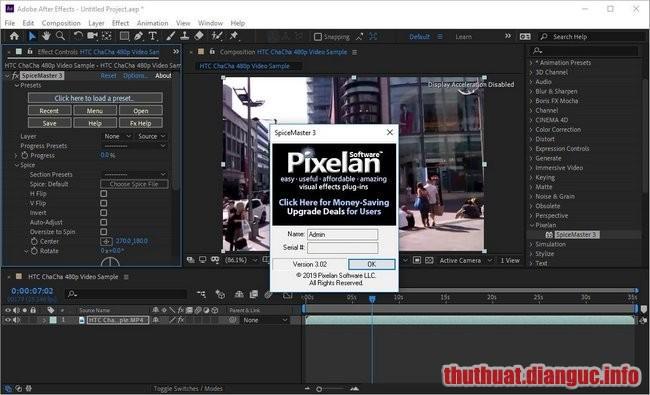 Download Pixelan SpiceMaster Pro 3.02 Full Crack, plugin hiệu ứng hoạt hình, Pixelan SpiceMaster Pro, Pixelan SpiceMaster Pro free download, Pixelan SpiceMaster Pro full crack, Pixelan SpiceMaster Pro full key