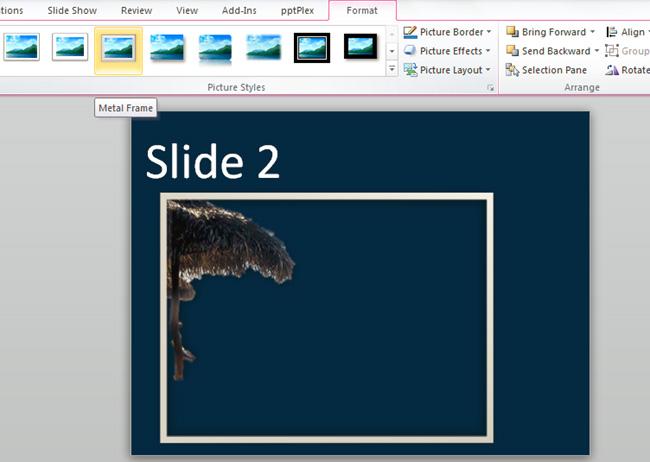 Cách chỉnh sửa ảnh trong Powerpoint 2010