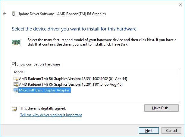 Sửa lỗi không chỉnh được độ sáng màn hình trên Windows 10