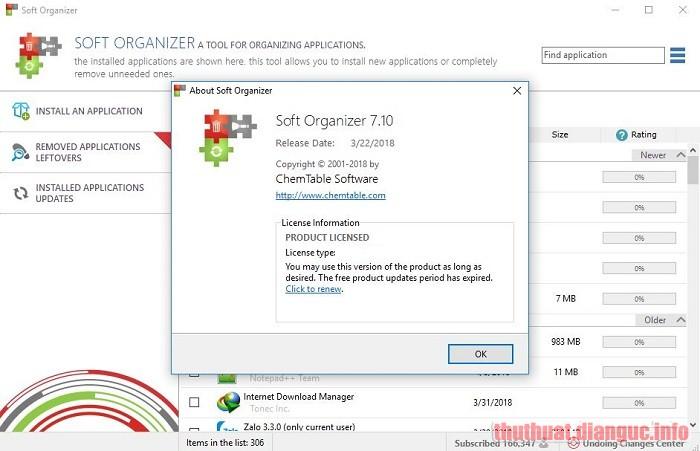 Download Soft Organizer 7.46 Full Crack