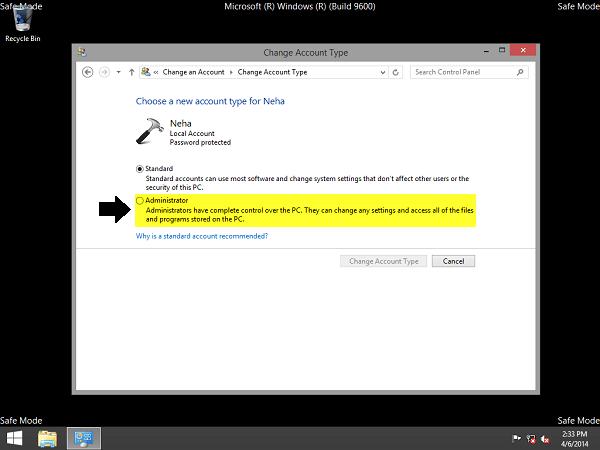 Mất quyền Admin trên Windows 10/8.1, đây là cách khắc phục