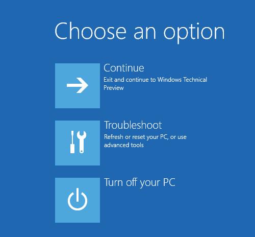 Trên cửa sổ tiếp theo, click chọn tùy chọn Troubleshoot
