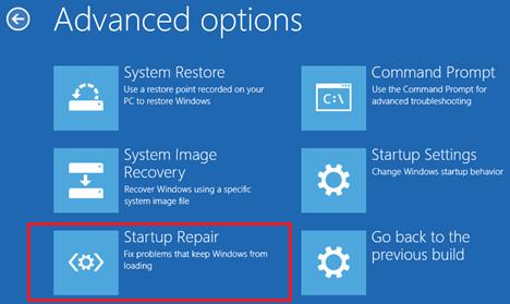 Trên cửa sổ Advanced Options click chọn Automatic Repair