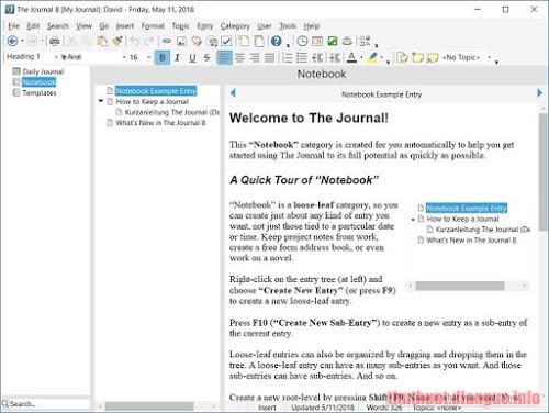 Download The Journal 8.0.0.1311 Full Crack, The Journal, The Journal free download, The Journal full key, The Journal full crack, phần mềm Giữ nhật ký hàng ngày và lời nhắc,