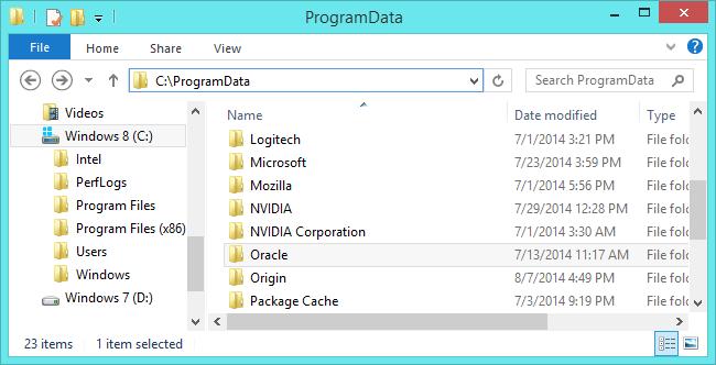 Thư mục ProgramData