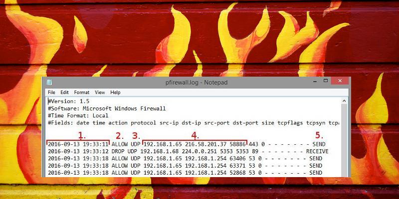 Windows Firewall logs