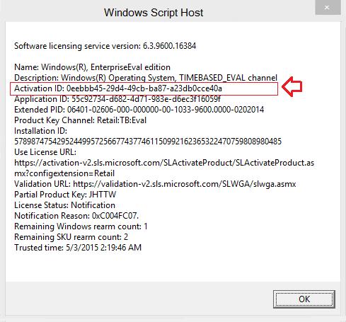 xuất hiện hộp thoại Windows Script Host