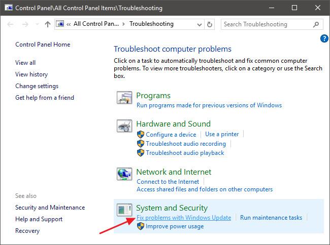 Tại cửa sổ Troubleshoot computer problems